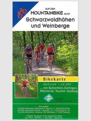 Mountainbikekarte | durch Schwarzwaldhöhen und Weinberge